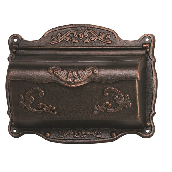 Fine Art Lighting Ltd. Bronze Ornate Wall Mounted Mailbox