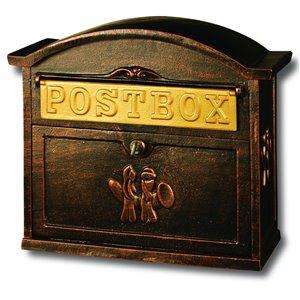 Boîte aux lettres en aluminium robuste, bronze antique