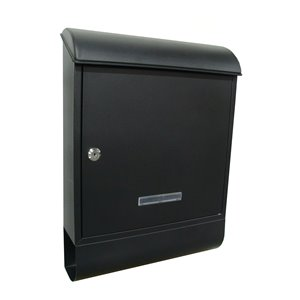 Fine Art Lighting Ltd. Black Locked Mailbox with Newspaper Holder