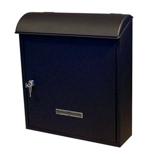 Fine Art Lighting Ltd. Black Wall Mounted Locking Mailbox