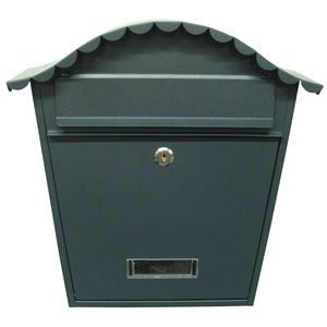 Fine Art Lighting Ltd. Black Locked Mailbox