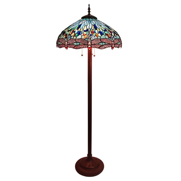 Fine Art Lighting Ltd. Tiffany Bronze Dragonfly Floor Lamp