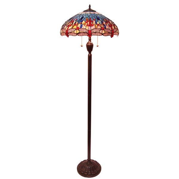 Fine Art Lighting Ltd. Tiffany 62-in Bronze Dragonfly Floor Lamp