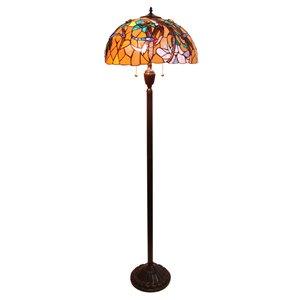 Lampadaire de style Tiffany, libellule