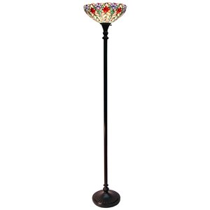 Fine Art Lighting Ltd. Tiffany 72-in Bronze Flower Floor Lamp