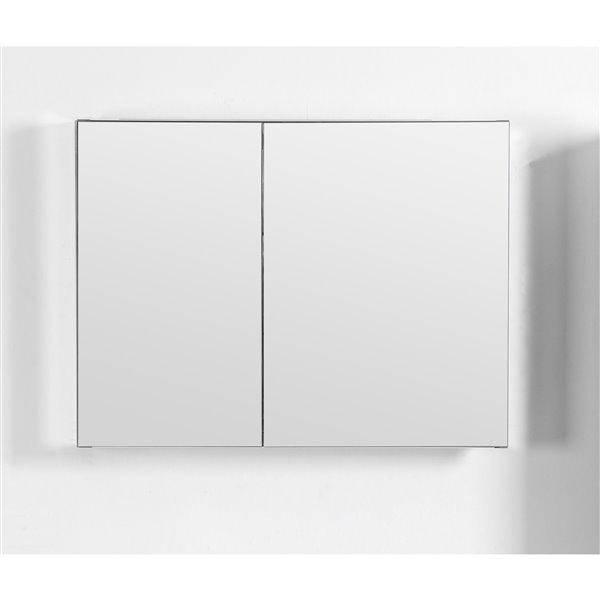 GEF Avila armoire à pharmacie en aluminium, 30 po.