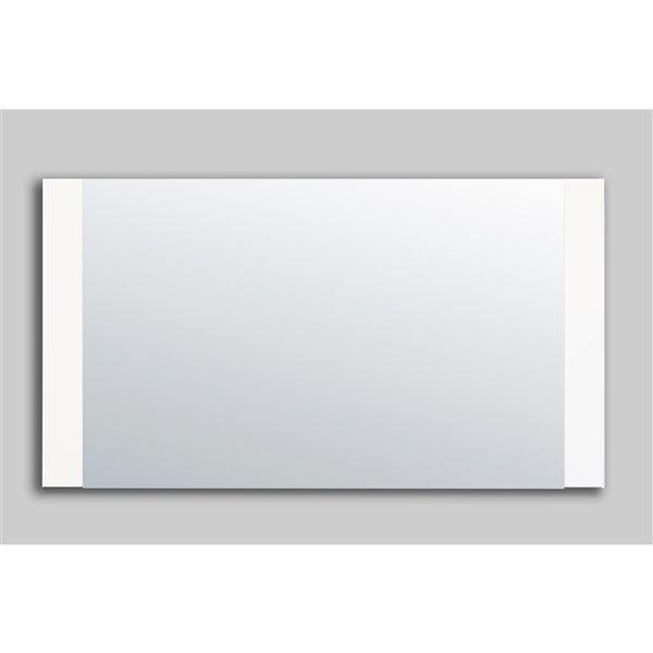 GEF Brooklyn  miroir de salle de bain, 57 po. blanc