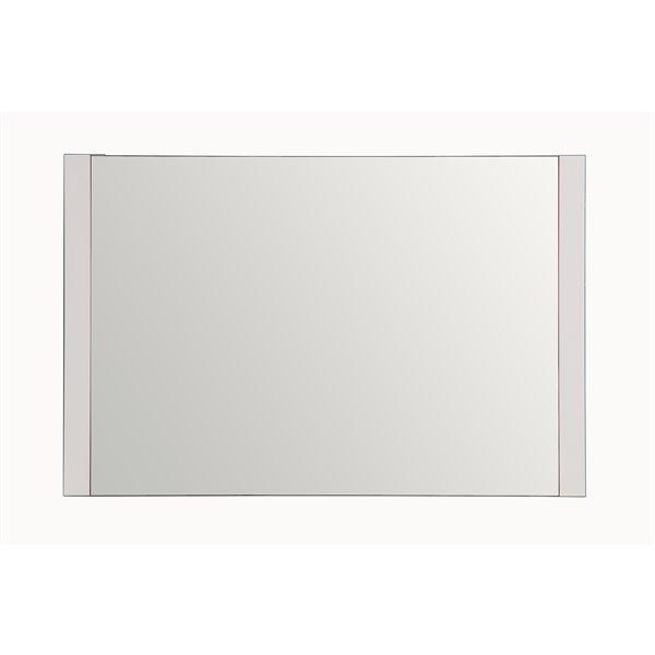 GEF Brooklyn Bathroom Mirror, 48-in White