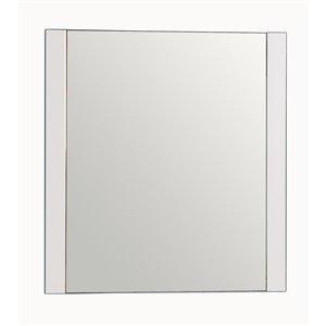 Golden Elite Melrose 30-in x 31.25-in White Framed Mirror