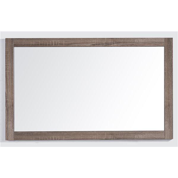 GEF Rosalie Bathroom Mirror, 47-in Soft Oak