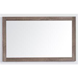Golden Elite Sofia 47-in x 28.5-in Soft Oak Finish Framed Mirror