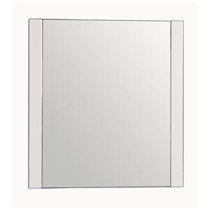 Golden Elite Melrose 24-in x 31.25-in White Framed Mirror