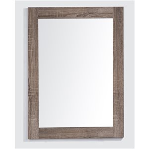 Golden Elite Sofia 24-in x 28.5-in Soft Oak Finish Framed Mirror