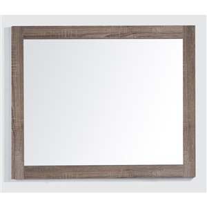 Golden Elite Sofia 36-in x 28.5-in Soft Oak Finish Framed Mirror