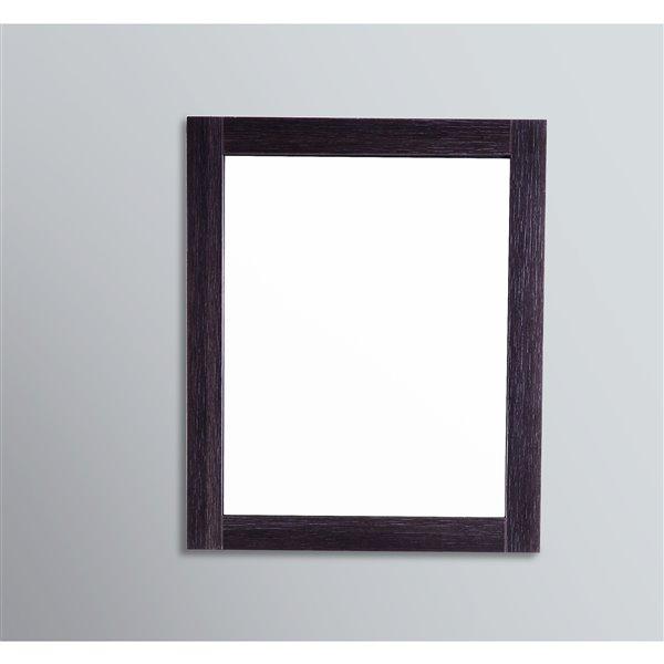 GEF Amira Bathroom Mirror, 24-in Dark Oak