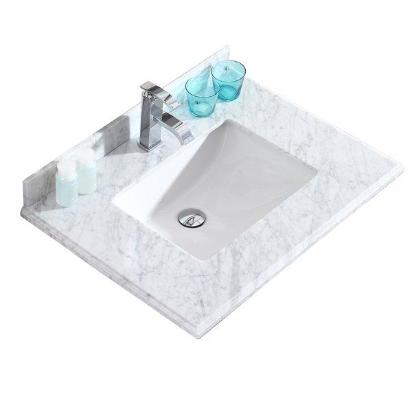 GEF Bathroom Vanity Countertop, 31-in Carrara Marble
