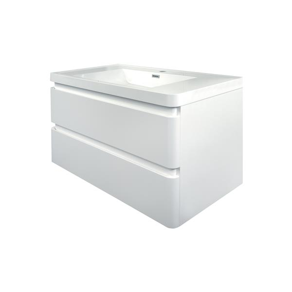 GEF Scarlett Vanity with Acrylic Top, 36-in White