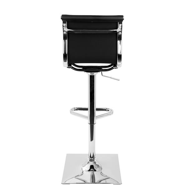 Tabouret de bar Masters, similicuir, noir et chrome