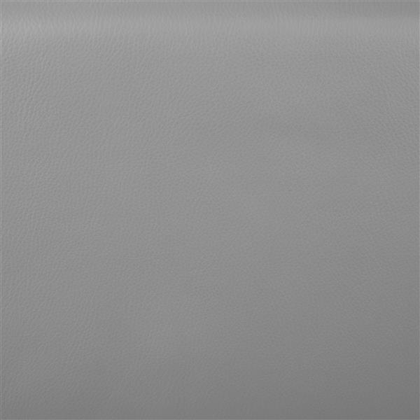 Tabouret Stout ajustable, contemporain, gris et chrome