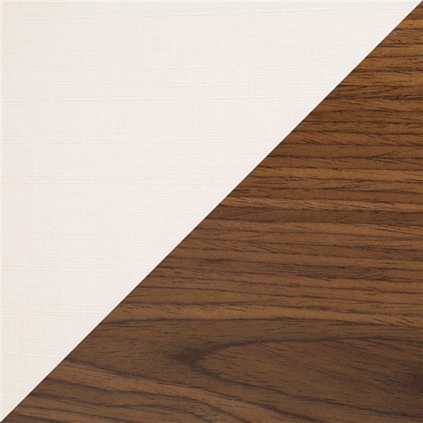 Lumisource Maya Wooden Back Walnut and Cream Barstool