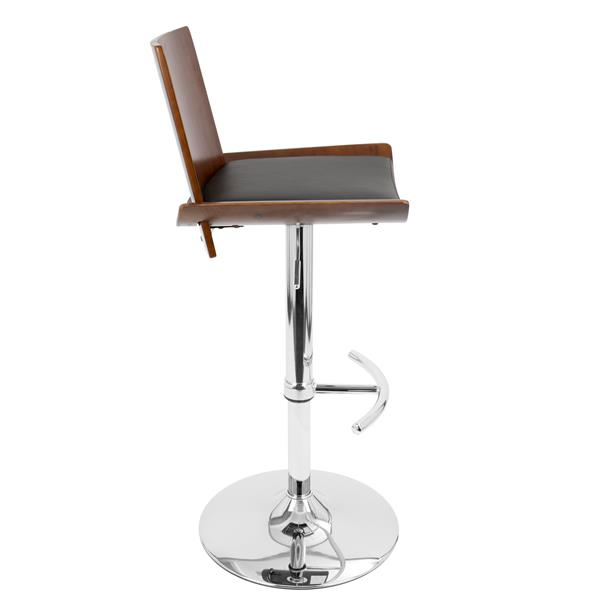 Lumisource Vittorio Black Wooden Back Barstool