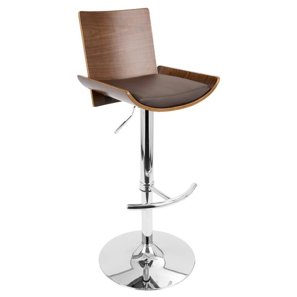 Lumisource Vittorio Black Wooden Brown Barstool