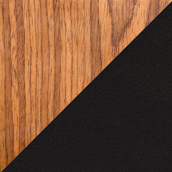 Lumisource Viera Faux Black Leather Barstool