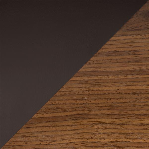 Tabouret de bar Fiore, ajustable, noyer et brun