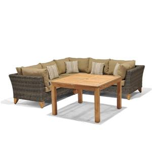 Scancom Tan 4-Piece Scancom Sydney Seating and Dining Set