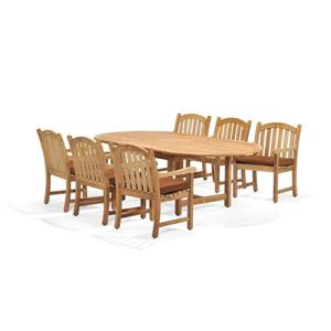 Scancom Oxford 7-Piece Teak Outdoor Dining Set