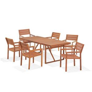 Scancom Castleton 7-Piece Outdoor Folding Dining Set