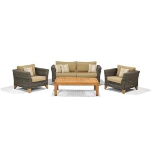 Scancom Sydney II 4 pc Brown Teak Outdoor Conversation Set