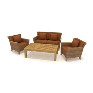 Scancom Polynesia 4 pc Teak Outdoor Conversation Set