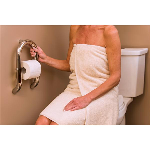 Invisia Collection Brushed Stainless Wall Toilet Roll Holder