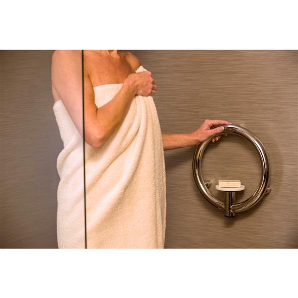 Porte-savon Invisia, bronze huilé