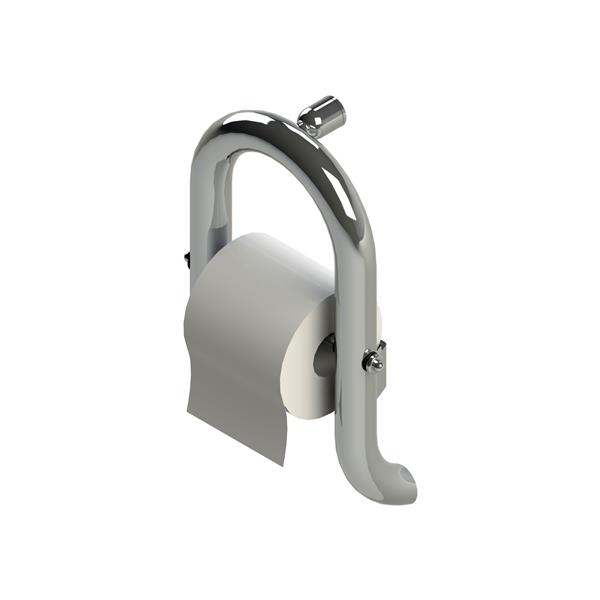 Invisia Collection Polished Chrome Wall Toilet Roll Holder
