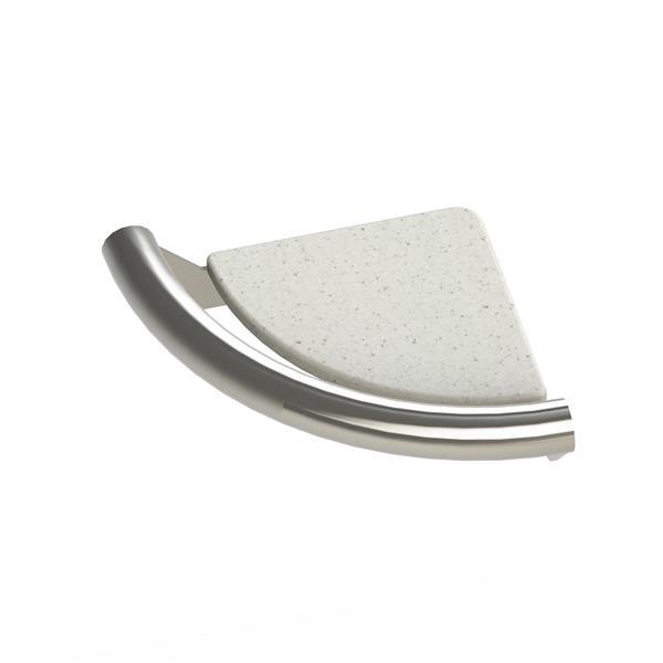 Tablette en coin Invisia, inox brossé