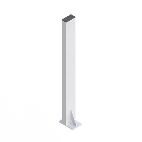 HealthCraft Products P.T. Rail™ White Floor Mast