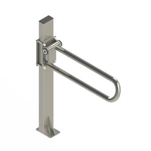 HealthCraft Products P.T. Rail™ Brushed Stainless Floor Mast