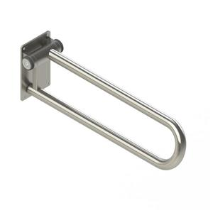 HealthCraft Products PT Rail™ 28-In Stainless Bathroom Safety Accessory With Hinged Left Side