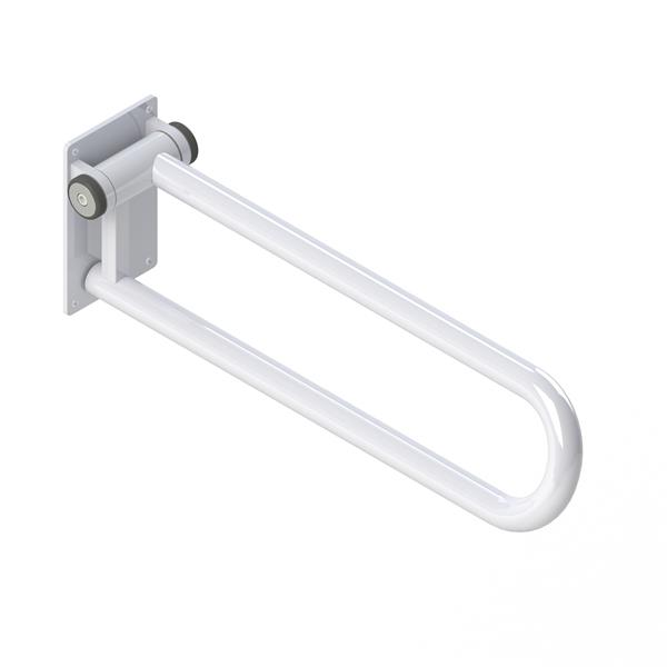 HealthCraft Products PT Rail™ 28-In White Bathroom Safety Accessory With Hinged Right Side