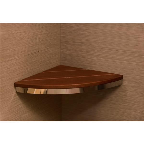 Invisia Collection Corner Seat Chrome Walnut