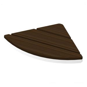 Invisia Collection Corner Seat Chrome Walnut