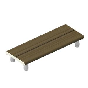 Invisia Collection 30-in Brushed Nickel Ash Bath Bench
