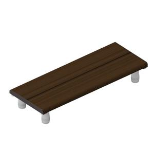 Invisia Collection 30-in Oil Rubbed Bronze Walnut Bath Bench