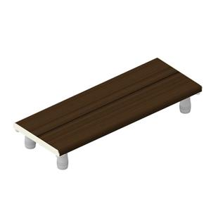 Invisia Collection 30-in Brushed Nickel Walnut Bath Bench