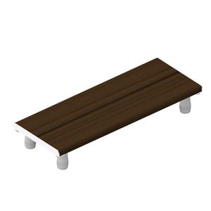 Invisia Collection 30-in Chrome Walnut Bath Bench