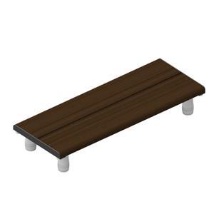 Invisia Collection 30-in Matte Black Walnut Bath Bench