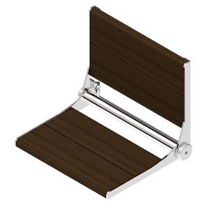 Invisia Collection SerenaSeat 26-in Chrome Walnut