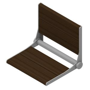 Invisia Collection SerenaSeat 18-in Powder Coat Grey Walnut